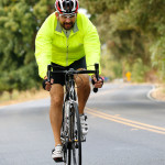 Man cycling in a jacket